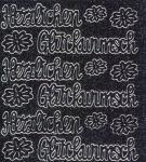 Micro-Glittersticker-Herzlichen Glückwunsch-schwarz/silber-0490gschws