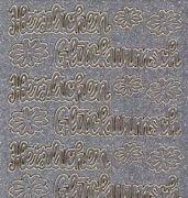 Micro-Glittersticker-Herzlichen Glückwunsch-silber/gold-0490gsg