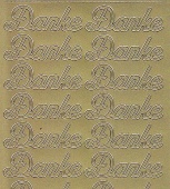 Zier-Sticker-Bogen-0493g-Danke-gold