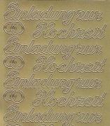 Zier-Sticker-Bogen-0496g-Einladung zur Hochzeit-gold