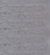 Zier-Sticker-Bogen-0496s-Einladung zur Hochzeit-silber
