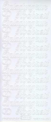Zier-Sticker-Bogen-0496w-Einladung zur Hochzeit-weiß
