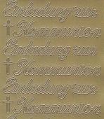 Zier-Sticker-Bogen-0497g-Einladung zur Kommunion-gold