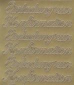 Zier-Sticker-Bogen-0498g-Einladung zur Konfirmation-gold