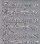 Zier-Sticker-Bogen-0498s-Einladung zur Konfirmation-silber