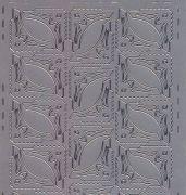 Zier-Sticker-Bogen - 50 Ecken-silber-507s