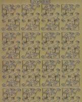 Zier-Sticker-Bogen - 56 Ecken-gold-509g