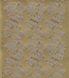 Zier-Sticker-Bogen-Blumen-Ecken-gold-0521g