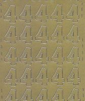 Zier-Sticker-Bogen-Zahlen-nur 4 -gold-541g