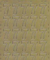 Zier-Sticker-Bogen-Zahlen-nur 7 -gold-544g