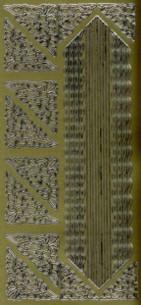 Zier-Sticker-Bogen-versch.dünne Ränder-Bordüren und  Ecken-gold-599g