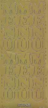 Zier-Sticker-Bogen-Menü-große Schrift-senkrecht-gold-0603g