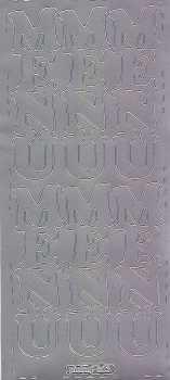 Zier-Sticker-Bogen-Menü-große Schrift-senkrecht-silber-0603s
