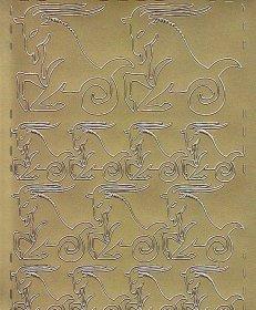 Zier-Sticker-Bogen-Sternzeichen-Steinbock-gold-606g