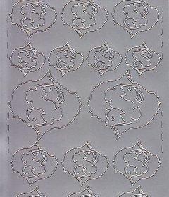 Zier-Sticker-Bogen-Sternzeichen-Fische-silber-608s