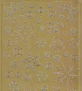 Spiegelsticker-Bogen-609spg-Eisblumen -gold