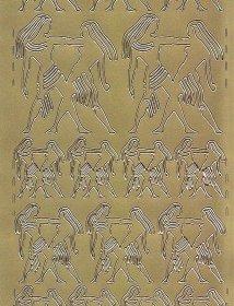 Zier-Sticker-Bogen-Sternzeichen-Zwilling-gold-611g
