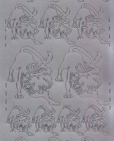 Zier-Sticker-Bogen-Sternzeichen-Löwe-silber-613s