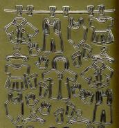 Zier-Sticker-Bogen-Baby-Motive-Wäscheleine-gold-640g
