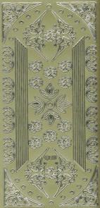 Zier-Sticker-Bogen-dünne Ränder-Bordüren und Schmetterlings-Ecken-gold-689g