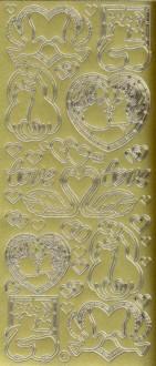 Zier-Sticker-Bogen-Hochzeit-Liebe-Paare-gold-800g