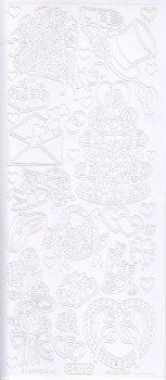 Zier-Sticker-Bogen-Hochzeit-Torte-Strauß.Ringe-weiß-802w