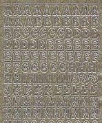 Micro-Glittersticker-ABC-gold/silber-0814ggs