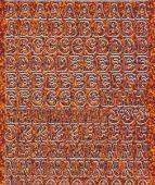 Micro-Glittersticker-ABC-orange/silber-0814gors