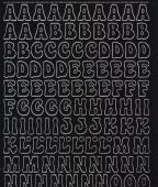 Zier-Sticker-Bogen-Alphabet-ABC-0814schw