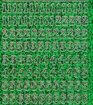 Zier-Sticker-Bogen-Zahlen-holo-grün-gold-815hogr