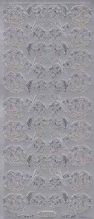 Zier-Sticker-Bogen-Rosen-silber-0823s