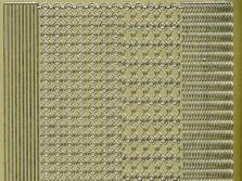 Zier-Sticker-Bogen-0841g-versch. dünne Ränder-gold