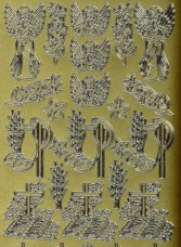Zier-Sticker-Bogen-Kirchliche Motive-Engel,Kelche,Bibel-883g