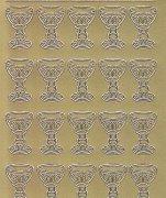 Zier-Sticker-Bogen-kirchliches Motiv-Kelche-35St-892g