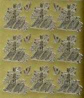 Zier-Sticker-Bogen-Christliche Motive-Kreuz/Bibel-895g