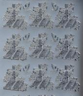 Zier-Sticker-Bogen-Christliche Motive-Kreuz/Bibel-895s