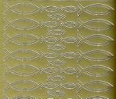 Zier-Sticker-Bogen-0897g-Christliches Motiv-Fische