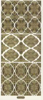 Zier-Sticker-Bogen-0924g-Ornamente-gold