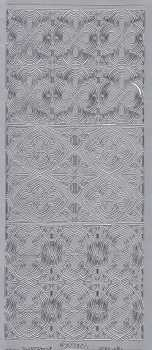 Zier-Sticker-Bogen-0924s-Ornamente-silber