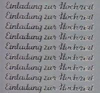 Spiegelsticker-Bogen-951sps-Einladung zur Hochzeit -silber
