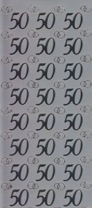 Spiegelsticker-Bogen-0955sps-Jubiläumszahlen 50 -silber