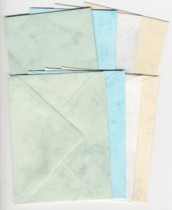 4 Mini-Doppelkarten mit Umschlägen-marmoriet-100-025