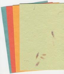 Naturpapier verschiedene Sorten und Farben*A5-Nr.08