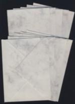 5 Mini-Doppelkarten mit Umschlägen-grau-schwarz/marmoriet-100-024