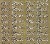 Zier-Sticker-Bogen-Viel Glück -gold-1008Ag