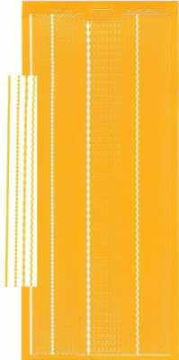 Zier-Sticker-Bogen-1016dge-versch. dünne Linien-dunkelgelb