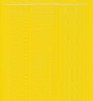 Zier-Sticker-Bogen-1016ge-versch. dünne Linien-gelb