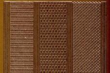 Zier-Sticker-Bogen-1016k-versch.dünne Ränder-kupfer