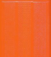 Zier-Sticker-Bogen-1016or.-versch. dünne Linien-orange