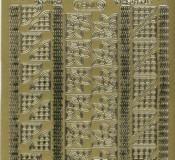 Zier-Sticker-Bogen-76 kleine Ecken&16 Ränder-1034g